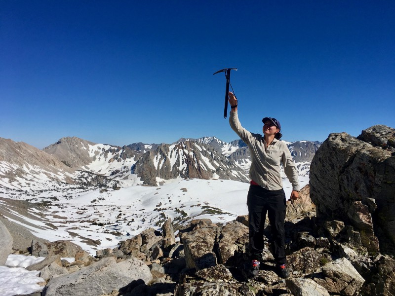 After this picture was taken, I wore my  rain pants  to glissade down Pinchot Pass.